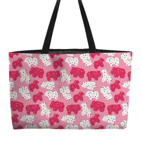 Frosted Animal Cracker Pattern Weekender Tote