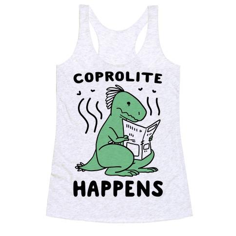 Coprolite Happens Racerback Tank Top