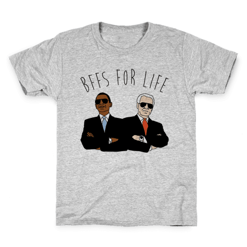 Obama and Biden Bffs For Life Kids T-Shirt