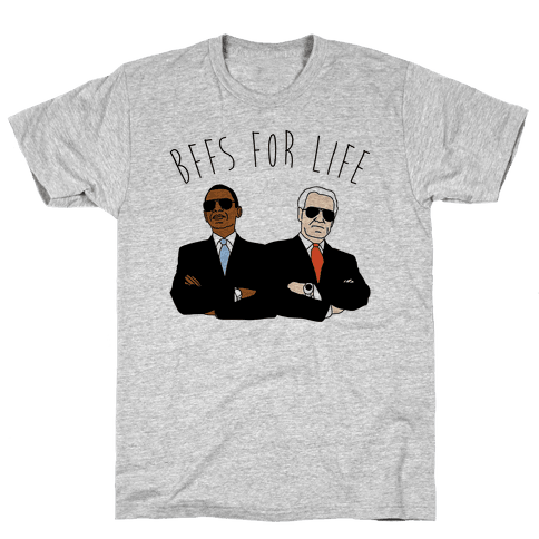 Obama and Biden Bffs For Life Mens T-Shirt