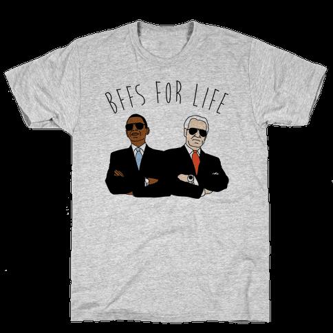 Obama and Biden Bffs For Life Mens T-Shirt