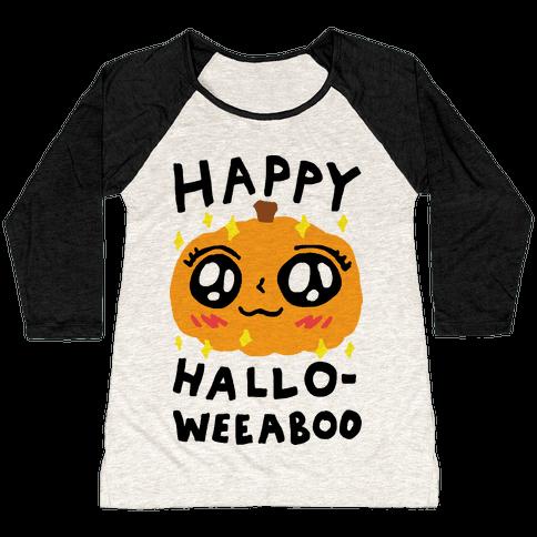 Happy Hallo-Weeaboo Pumpkin Baseball Tee