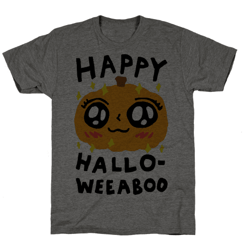 Happy Hallo-Weeaboo Pumpkin Mens T-Shirt