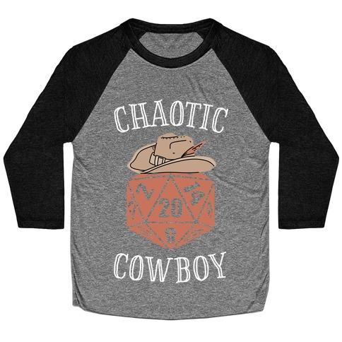 Chaotic cowboy Baseball Tee