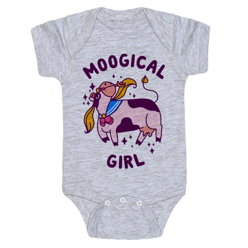 Moogical Girl Baby Onesy