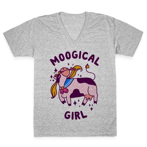 Moogical Girl V-Neck Tee Shirt