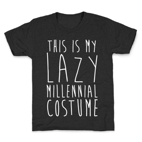 This Is My Lazy Millennial Costume White Print Kids T-Shirt