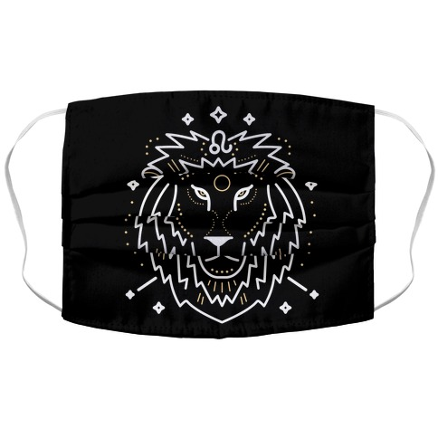 Astrology Leo Lion Accordion Face Mask