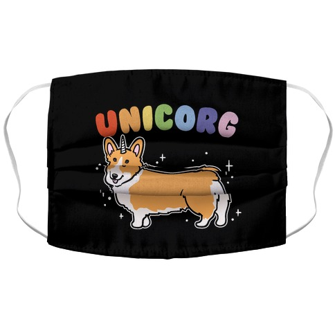 Unicorg Parody Accordion Face Mask