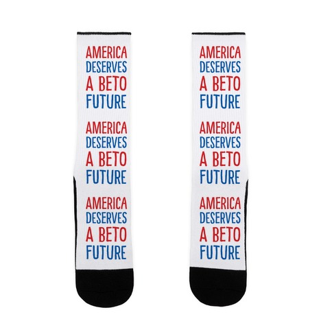 America Deserves A Beto Future Sock