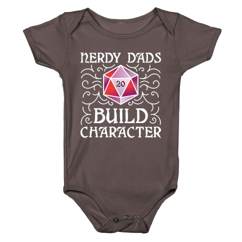 Nerdy Dads Build Character Baby One-Piece