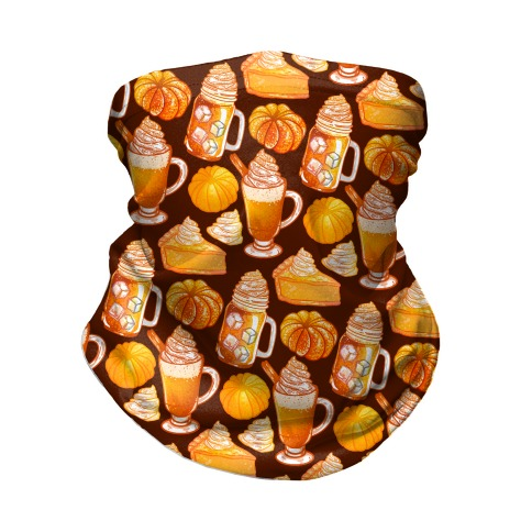 Pumpkin Everything Pattern Neck Gaiter