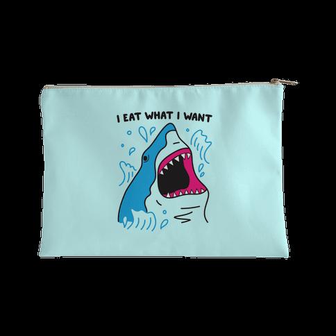 I Eat What I Want Shark Accessory Bag