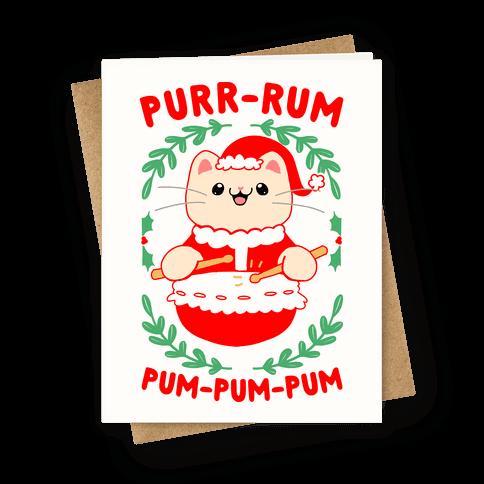 Purr-rum-pum-pum-pum Greeting Card