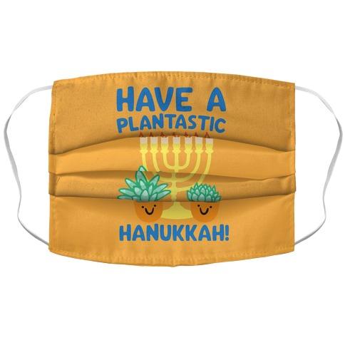 Have A Plantastic Hanukkah Accordion Face Mask