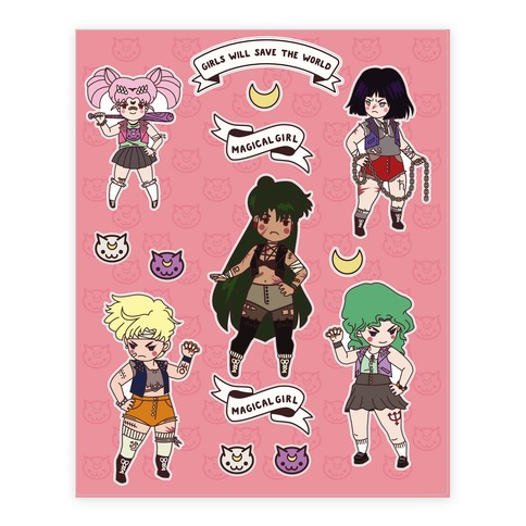 Rebel Girls Will Save The World 2 Sticker and Decal Sheet
