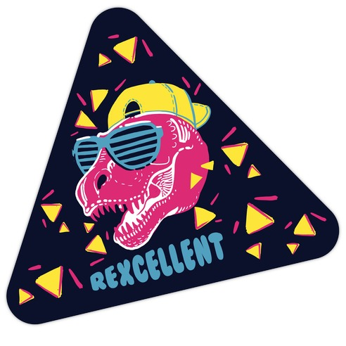 T-Rexcellent 90's Dinosaur Tyrannosaurus Die Cut Sticker