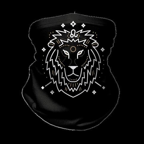 Astrology Leo Lion Neck Gaiter