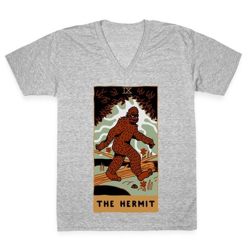 The Hermit (Bigfoot) V-Neck Tee Shirt