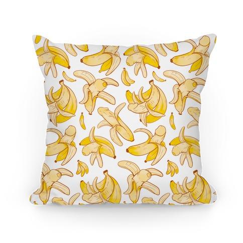 Banana penis pattern Pillow