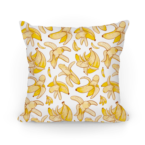 Banana penis pattern Pillow