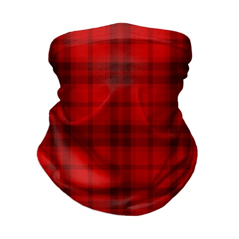 Red Plaid Neck Gaiter