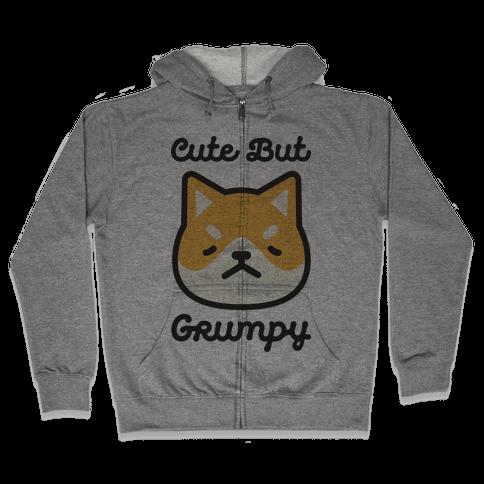 Cute But Grumpy Baby Zip Hoodie