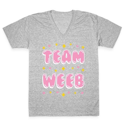 Team Weeb V-Neck Tee Shirt