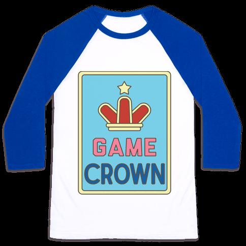 Game Crown Baseball Tee