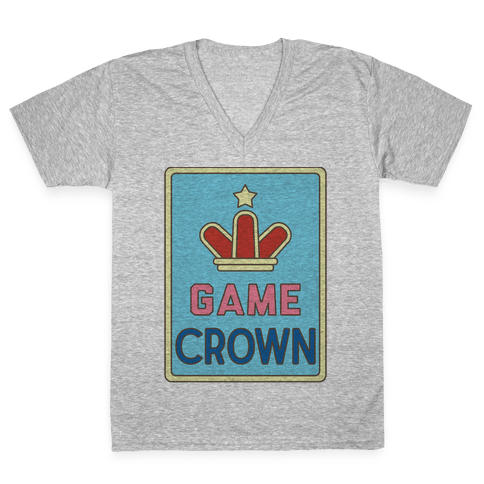 Game Crown V-Neck Tee Shirt