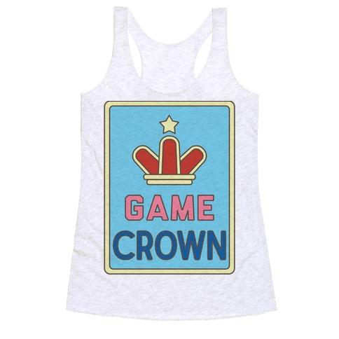 Game Crown Racerback Tank Top