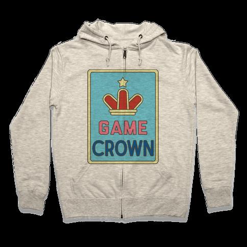 Game Crown Zip Hoodie