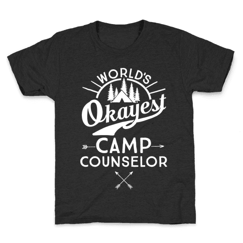 World's Okayest Camp Counselor Kids T-Shirt