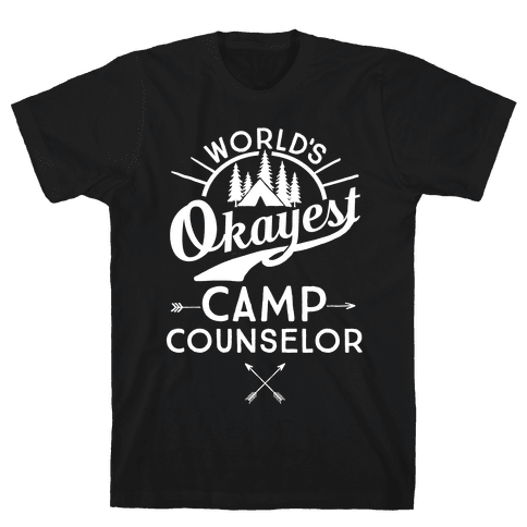 World's Okayest Camp Counselor Mens T-Shirt