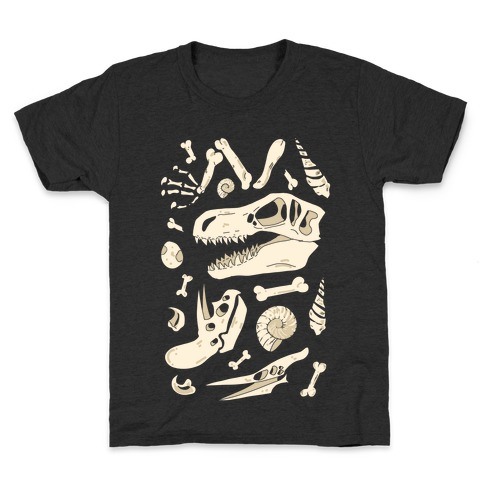Dino Fossils Pattern Kids T-Shirt