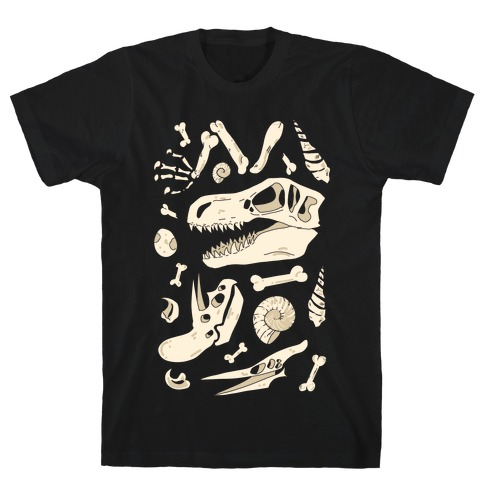 Dino Fossils Pattern T-Shirt