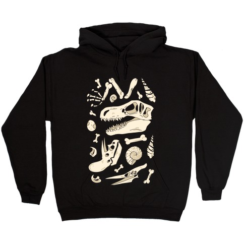 Dino Fossils Pattern Hooded Sweatshirt