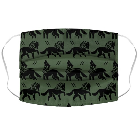 Wolf Chive Boho Pattern Face Mask Cover