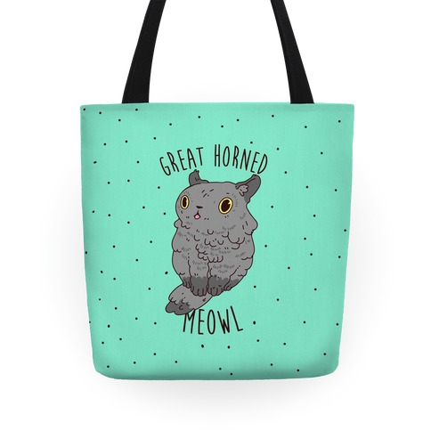 Great Horned Meowl Tote