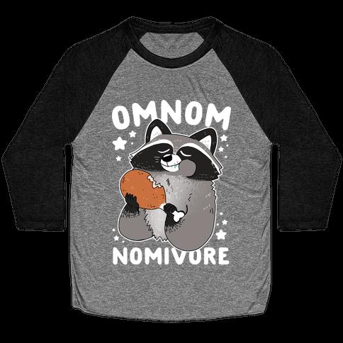 Omnomnomivore Baseball Tee