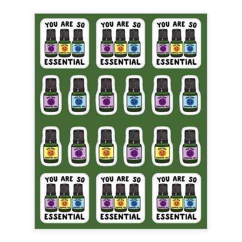 You Are So Essential Stickers and Decal Sheet