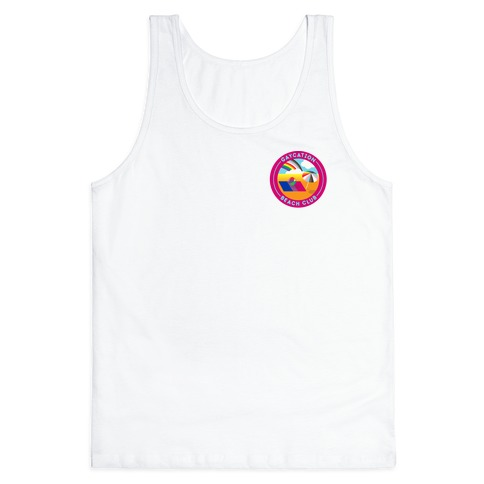 Gaycation Beach Club Patch Version 2 Tank Top