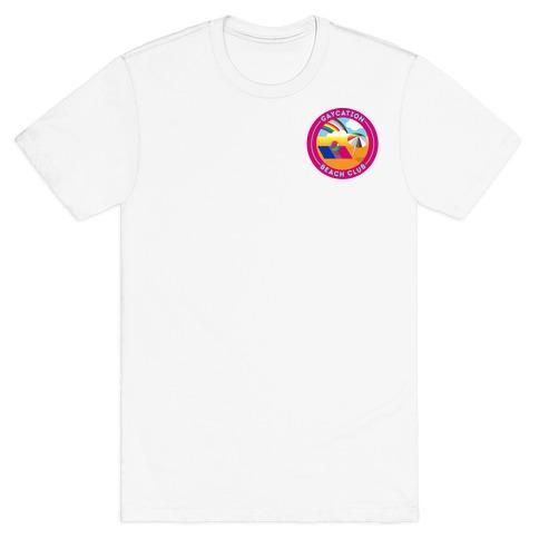 Gaycation Beach Club Patch Version 2 T-Shirt