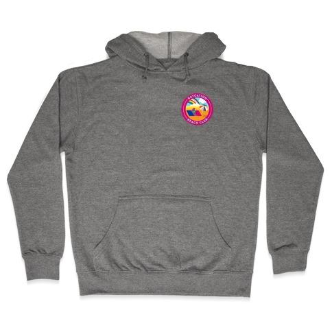 Gaycation Beach Club Patch Version 2 Hooded Sweatshirt