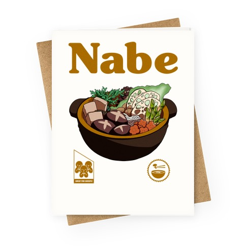 Nabe Pot Great for Groups Greeting Card