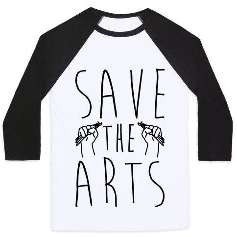 Save The Arts Baseball Tee
