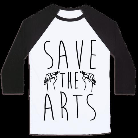 Save The Arts Baseball Tee