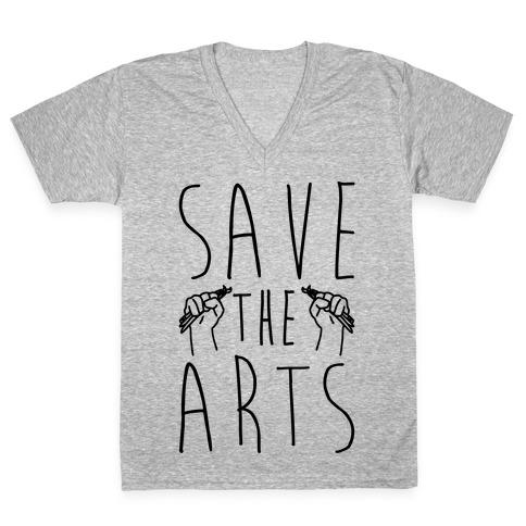 Save The Arts V-Neck Tee Shirt