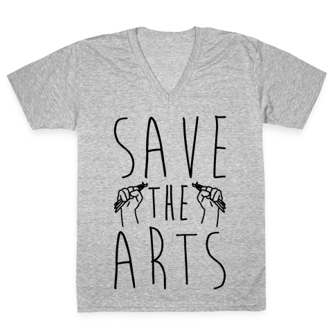 Save The Arts V-Neck Tee Shirt