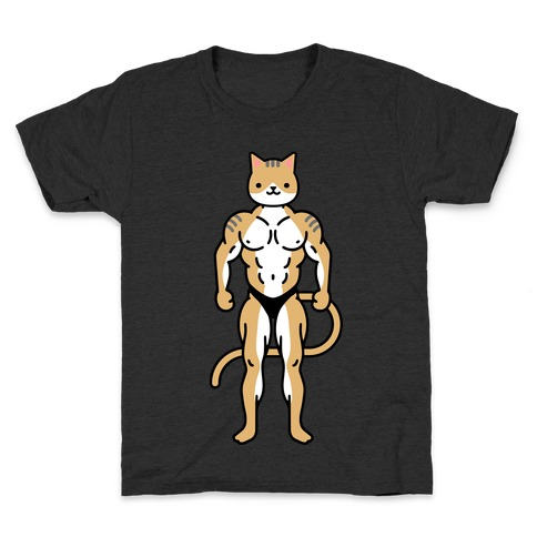 Buff Cat White Brown Grey Kids T-Shirt